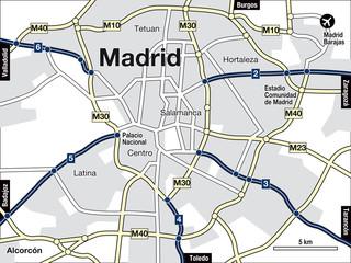 Stadtplan Madrid
