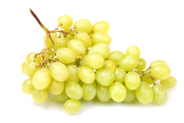 bunch of fresh green grapes isolated