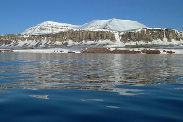 Printed roller blinds Arctic Südküste des Kongsfjord