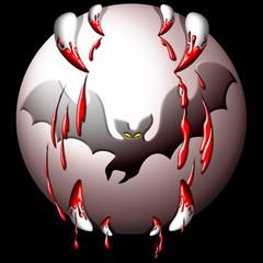 Luna Pipistrello-Halloween Moon-Lune Chauve Souris