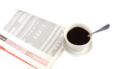 Morning paper and cup