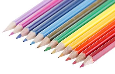 Assortment of coloured pencils