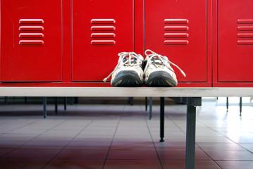 Red locker room