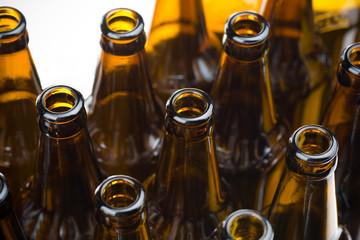 Closeup bottle of beer