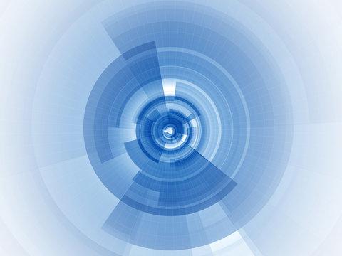 Digital blue focus