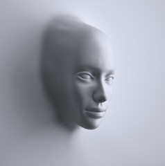 3d Abstract woman face