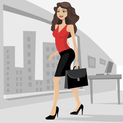 business woman with her bag