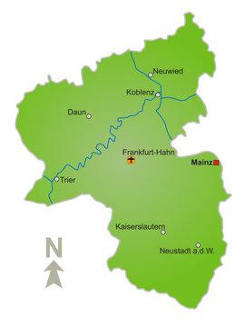 Karte Rheinland Pfalz