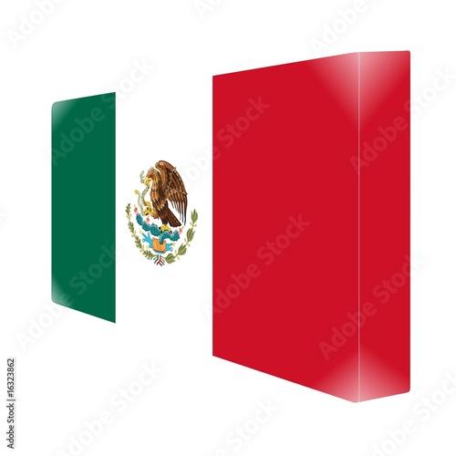 Brique Glassy Avec Drapeau Mexique Mexico Stock Photo And Royalty