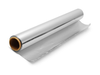 aluminium foil roll isolated