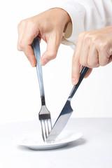 Table wares knife a plug