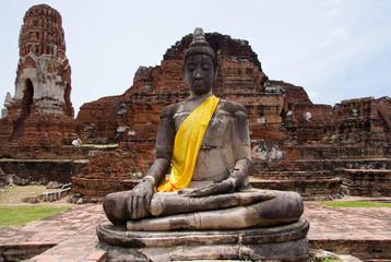 Buddha image at Wat Mahatat in Ayuttaya, Thailand