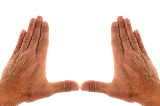 cadrer avec les mains