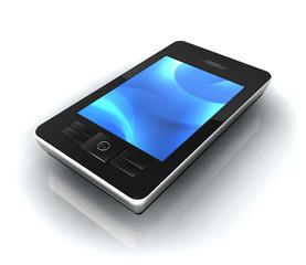 Portable écran bleu perspective