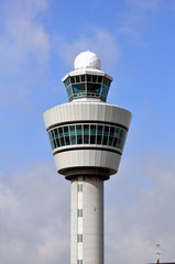 Air Traffic Control tower. Amsterdam Schiphol International.