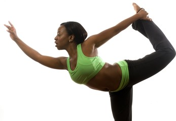 young pretty hispanic african american woman exercising dance ba