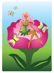 Beautiful princess-fairy