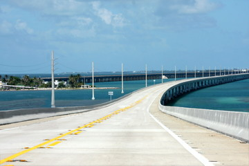 Seven miles Key West bridge.Florida scenic hwy US 1