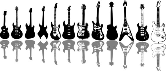 Guitar collage (vector)