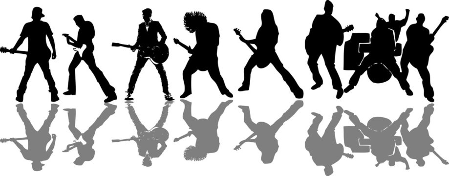 Guitar player collage (vector)