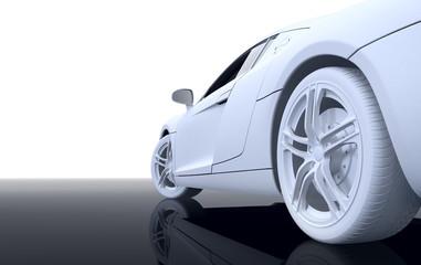 white modern sport car