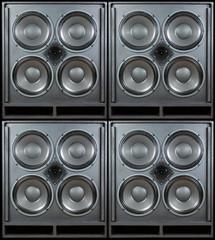 Bass-Lautsprecher-Stack-Hintergrund