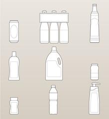 Bottles outline pack