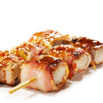 Japanese Cuisine - Tuna Wrapped in Bacon