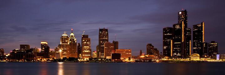 Detroit Michigan Skyline