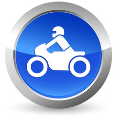 Fototapete - Motorrad - Button