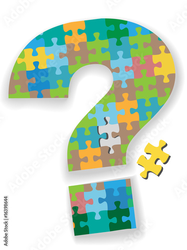 Question Mark Jigsaw Puzzle Missing Piece Search Solution