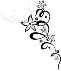 Blume, Ranke, filigran, floral mit Blüten