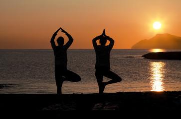 Yoga at sunset