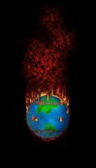 Burning Fleecy Tennisball Globe