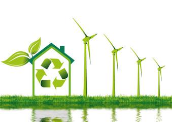 maison individuelle et énergie renouvelable