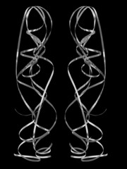 luftschlangen  party  deco, elegant  in schwarz