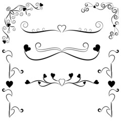 Design decorative elements with hearts