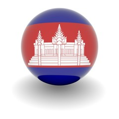 High resolution ball with flag of Cambodia