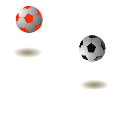 Two footballs.Vector illustration