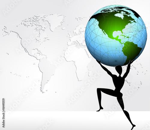 quot atlas portant le monde quot fichier vectoriel libre de droits sur la banque d images fotolia