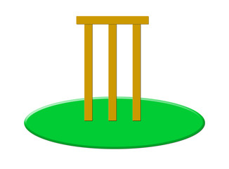 Cricket stumps and bails