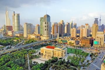 China Shanghai Opera House and  city skyline