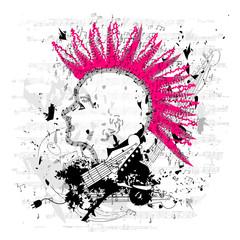 Grungy  Punk/Emo Illustration