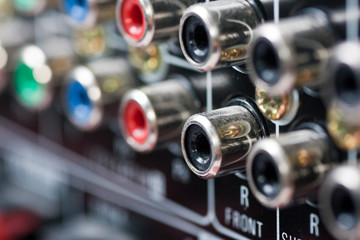 Closeup of AV connections