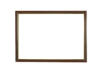 Wooden pictorial frame, isolated