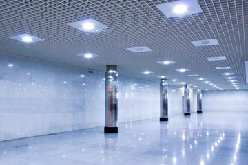 corridor in metro station