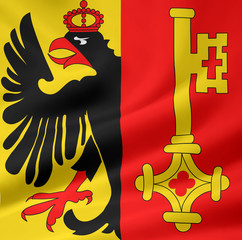 Flagge des Kantons Genf - Schweiz