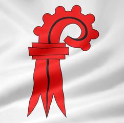 Flagge des Kantons Basel Landschaft - Schweiz