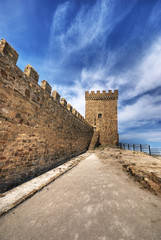 Old Genoa fortress, Ukraine, Crimea, city the Pike perch
