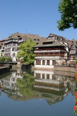 Alsace houses in Strasbourg